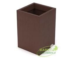 Donica z polietylenu QUADRI PL-QU60 czekolada