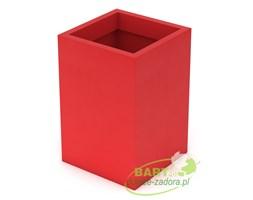 Donica z polietylenu QUADRI PL-QU60 czerwony