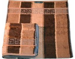 Ręcznik brązowy 100x50 cm Noblesse pasy