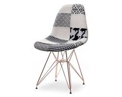 Krzesło MPC rod tap patchwork 2 na miedzianej podstawie