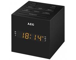 AEG Radio z zegarem MRC 4150, z wejściem USB, czarne