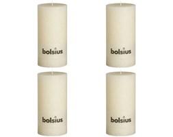 Bolsius Rustykalne świece pieńkowe, 200x100 mm, kość słoniowa, 4 szt.