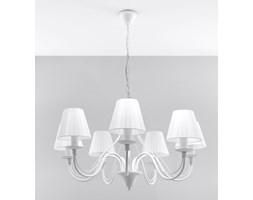 SOLLUX Klasyczna Lampa Żyrandol MINERWA ABAŻUR 7 Biały Sufitowe Oświetlenie LED