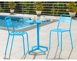Jadalnia ogrodowa LUXEMBOURG: mały stolik i 2 krzesła – kolor turkusowy
