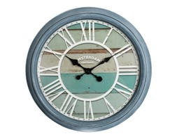 Zegar ścienny Amsterdam 55cm niebieski Mars&more nowoczesny