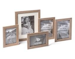 Ramka na zdjęcia 5 sztuk ciemne drewno różne rozmiary