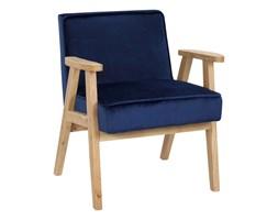 Fotel vintage MEMO VELVET granatowy
