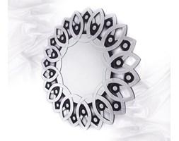 Virgin Island Water okrągłe lustro dekoracyjne w ramie lustrzanej glamour nowoczesne 120x120