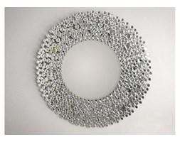 CERRUTI home okrągłe LUSTRO dekoracyjne glamour w ramie lustrzanej 90x90cm