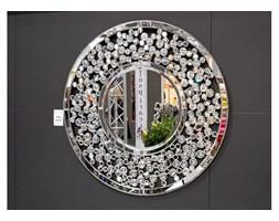 CERRUTI ORSINI DEKORACYJNE LUSTRO GLAMOUR NOWOCZESNE W RAMIE LUSTRZANEJ 16JZ104 80x80cm