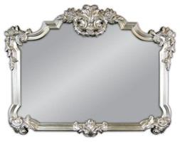 Panav Srebrne Lustro Antyczne w Stylowej Ramie Glamour 100x122cm