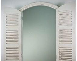 Mufida Okno Białe Przecierane Lustro Dekoracyjne VINTAGE 80x120cm