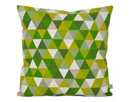 Poszewka dekoracyjna - Zielone_trójkąty