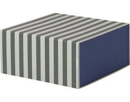 Pudełko w paski Ferm Living głębokie niebieskie