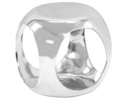 vidaXL Stolik boczny z odlewanego aluminium, 35x35x35 cm, srebrny