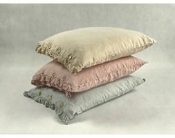 Lnina poszewka na poduszkę z falbanką Pearl Grey