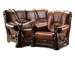Sofa Ramzes Rzeźba 2R Skóra naturalna