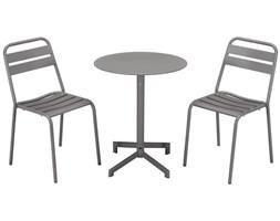 Jadalnia ogrodowa LUXEMBOURG: mały stół i 2 krzesła – taupe