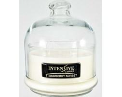 INTENSIVE COLLECTION 100% Soy Wax Premium Candle B2 Jar świeca zapachowa w szkle z kloszem 100% wosk sojowy - Strawberry Sorbet