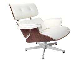 Fotel Vip biały/walnut/srebrna baza TP kod: 5902385714525