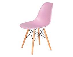 Krzesło DSW Wood King Home pastelowy róż kod: K-130.PINK.07.DSW