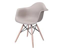 Krzesło P018W PP mild grey, drewniane nogi kod: 5902385714518