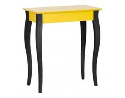 Biurko Lillo 3 rozmiary żółte z czarnymi nogami