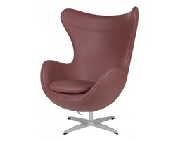 Fotel Jajo brązowy jasny skóra 37 Premium