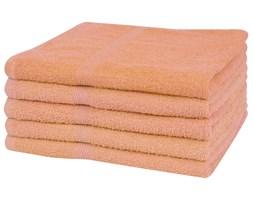 vidaXL Ręczniki, 5 szt., bawełna 360 g/m², 100x150 cm, brzoskwiniowe