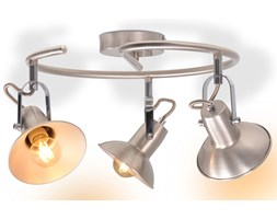 vidaXL Lampa sufitowa na 3 żarówki E14, kolor srebrny
