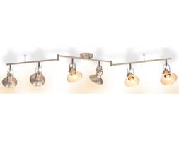 vidaXL Lampa sufitowa na 6 żarówek E14, kolor srebrny