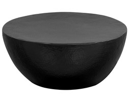 vidaXL Stolik kawowy z młotkowanego aluminium, 70 x 30 cm, czarny