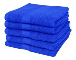 vidaXL Ręczniki, 5 szt., bawełna, 500 g/m², 70x140 cm, szafirowe