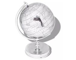 vidaXL Globus z podstawką, aluminium, srebrny, 42 cm