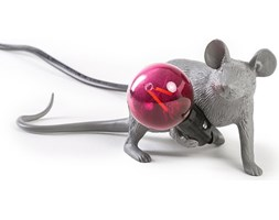 Lampa Mouse szara leżąca