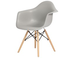 Krzesło nowoczesne plastikowe FLORENCJA - szare ( uniw)
