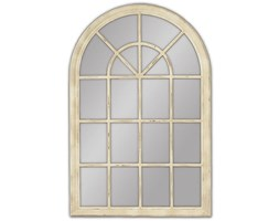 Muna Okno Przecierane Kremowe Lustro Dekoracyjne VINTAGE 100x150cm