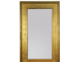 TED LAPIDUS Złote Lustro Dekoracyjne w Stylowej Ramie RETRO 90x150cm