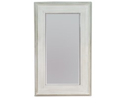 KURKDJIAN Aqua Białe Przecierane Lustro w Stylowej Ramie Styl Glamour 90x150cm
