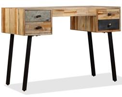 vidaXL Biurko, lite drewno tekowe z odzysku, 110 x 50 x 76 cm