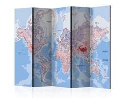 Parawan 5-częściowy - Parawan: Mapa świata k-A-0061-z-c