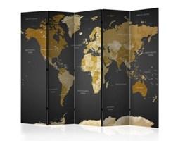 Parawan 5-częściowy - Parawan: Mapa Świata na ciemnym tle k-A-0092-z-c