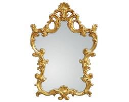 HERMÈS Złote Lustro Dekoracyjne w Stylowej Ramie RETRO 76x110cm