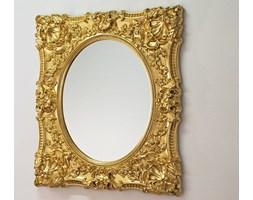 Złote Lustro Dekoracyjne w Stylowej Ramie Glamour 101x121cm