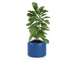 Donica okrągła Monumo Ambienti 39 cm szeroka, niebieska