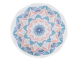 Kolorowy ręcznik plażowy ze 100% bawełny Sun, ⌀ 150 cm