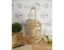 Rattanowy lampion Orchidea Milano Natural, ⌀ 26 cm