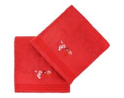 Zestaw 2 czerwonych ręczników kąpielowych Gifts, 70x140 cm