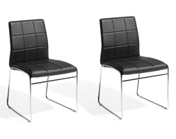 Zestaw do jadalni 2 krzesła czarne KIRON