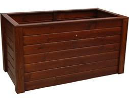 Donica drewniana 1500x790 mm lakier brąz